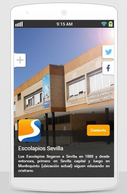 App para móvil ESCOLAPIOS SEVILLA