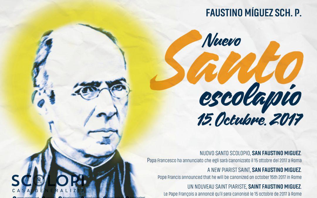 Faustino Míguez. Nuevo Santo Escolapio.